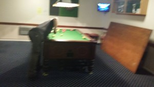 Pool and darts area.