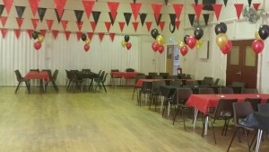 Hire our hall and decorate to make you party more memorable, here's an example.